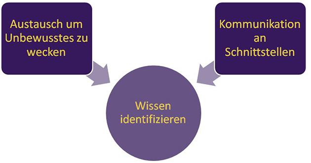 Wissensmanagement-Grafik: Wissen identifizieren